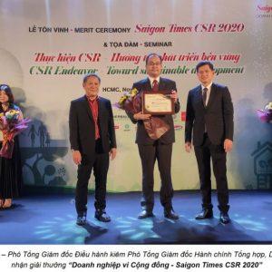 """Dai-ichi Life Việt Nam được Vinh Danh """"Doanh Nghiệp Vì Cộng đồng – Saigon Times CSR 2020"""""""